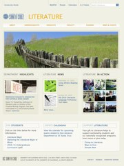 Department web template