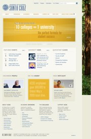 University home page web template
