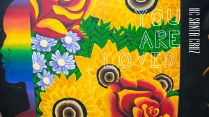 Mural Zoom background with You Are Loved Runway Right